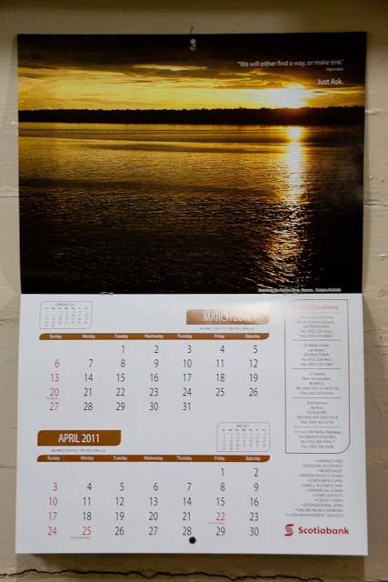 Scotiabank Guyana 2011 Calendar (2/6)