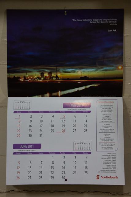 Scotiabank Guyana 2011 Calendar (3/6)