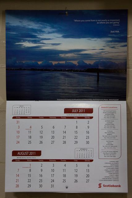 Scotiabank Guyana 2011 Calendar (4/6)