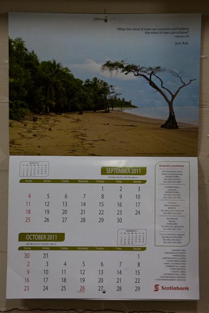 Scotiabank Guyana 2011 Calendar (5/6)