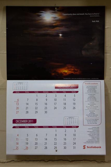 Scotiabank Guyana 2011 Calendar (6/6)